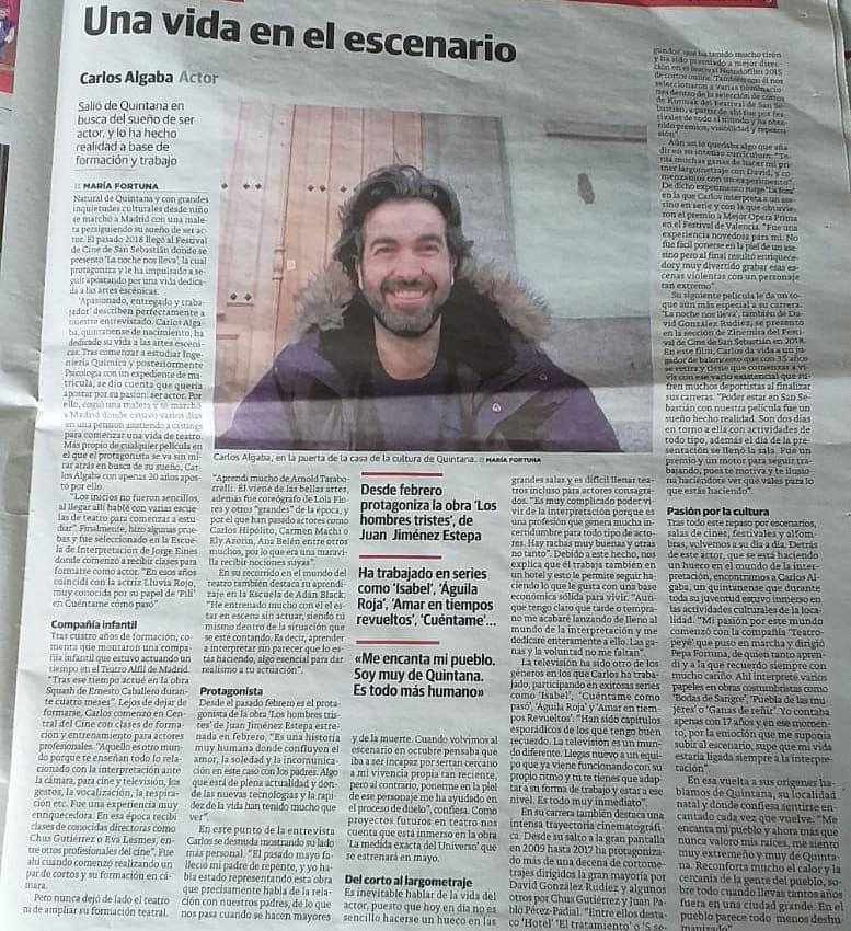 Entrevista para el diario Hoy