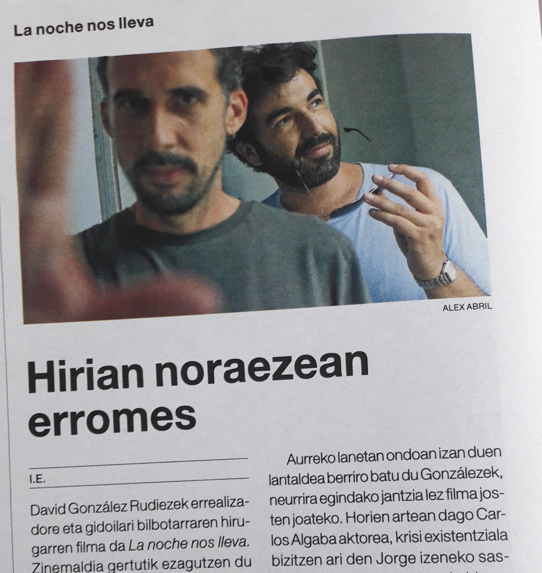 Entrevista en el diario del Festival de San Sebastián